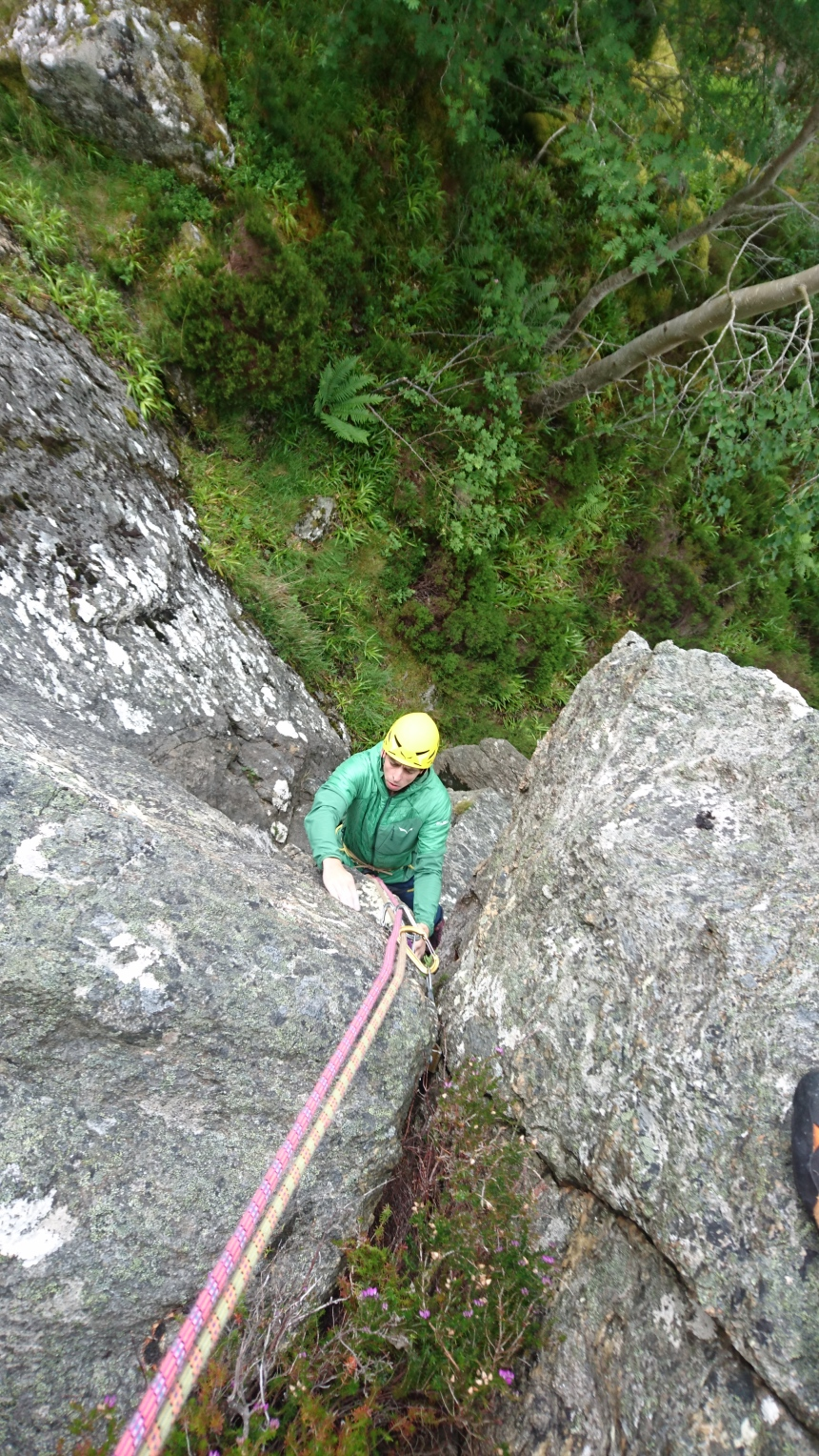Joe enjoying the first of Inaccessible Crack Direct