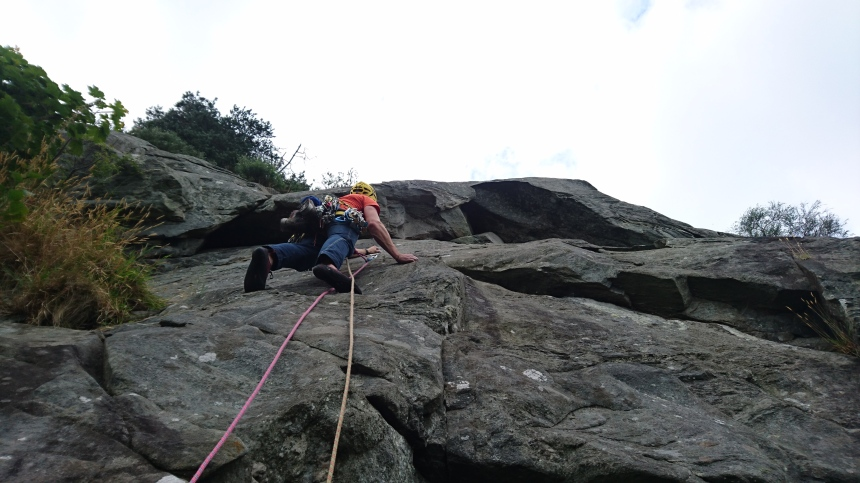 Grabbing a quick trad route (The End VS,5a) on way home