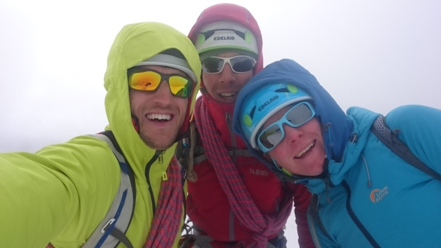 Ontop of a snowy hill at 3500m