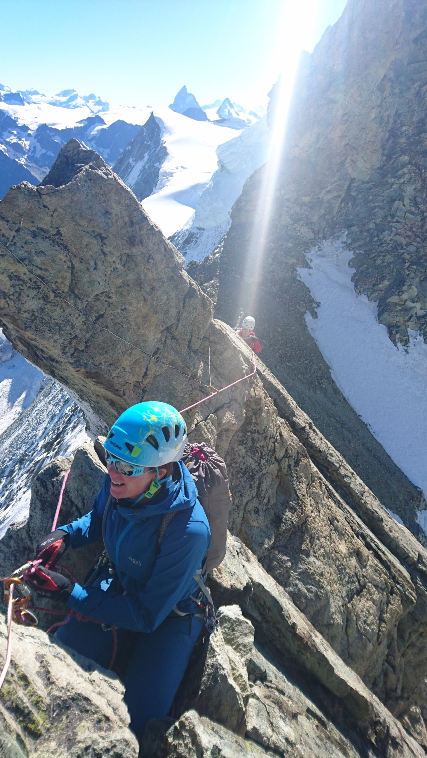 Nice climbing on Mont Blanc de Chailon East Ridge
