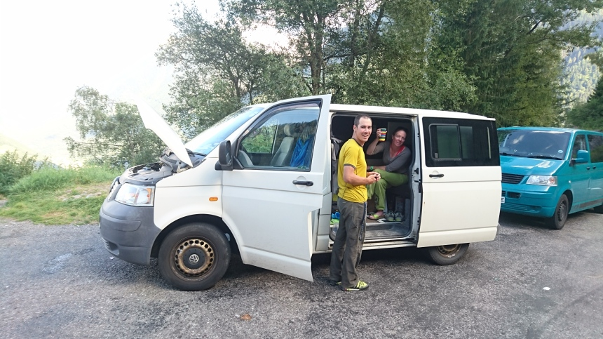 No trip is complete without a few van 'issues!'