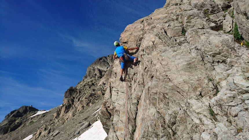Climbing in the Aiguille Rouges