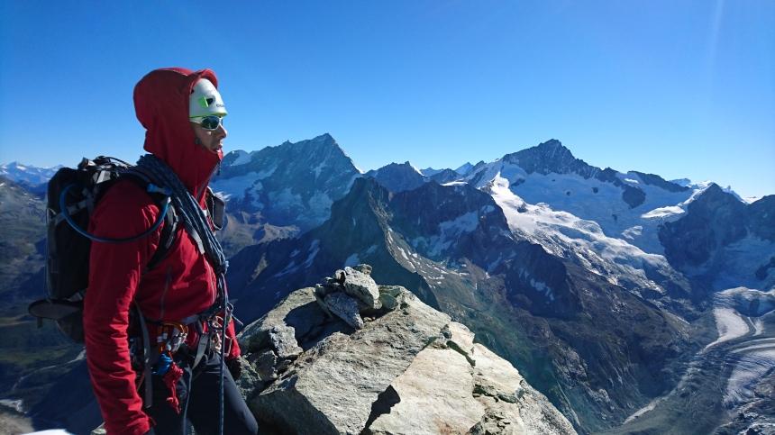 Ken overlooking the Weisshorn & Zinalrothorn
