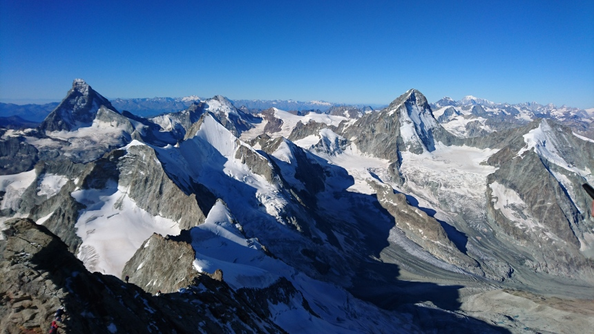 Great views of the Matterhorn and the Dent Blanche