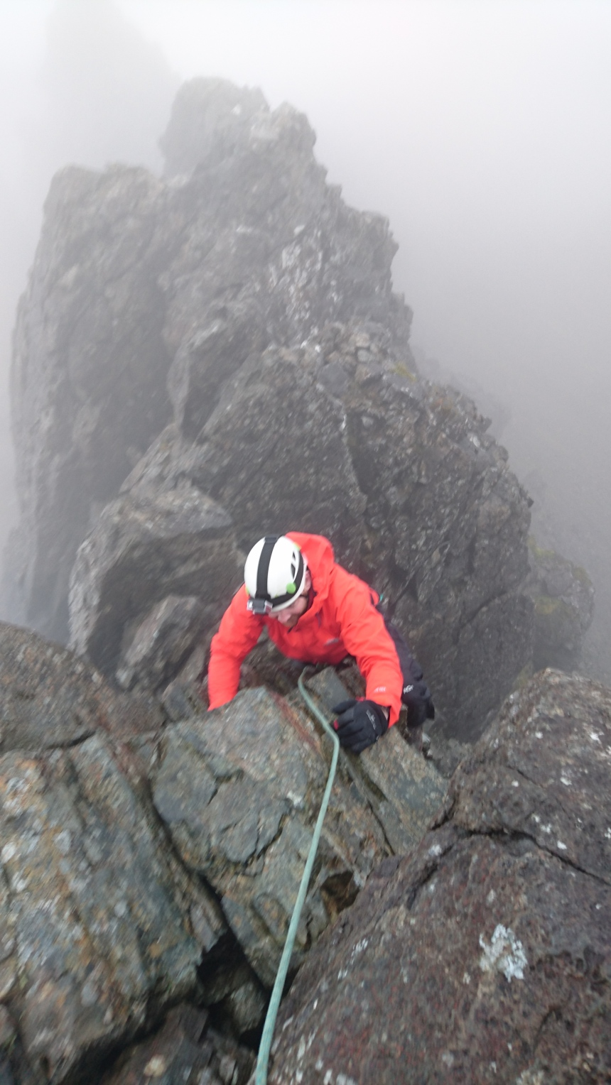 Tackling the Pinnacle Sgurr nan Gillean