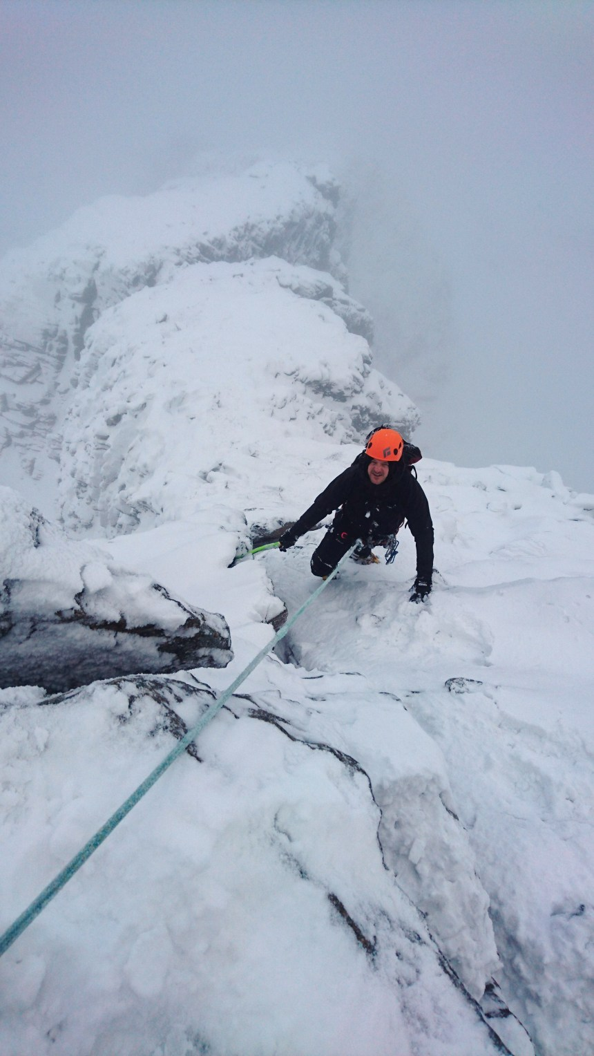 Winter ascent of Tower Ridge