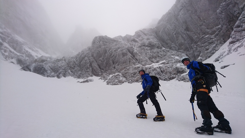 Heading up Observatory Gully