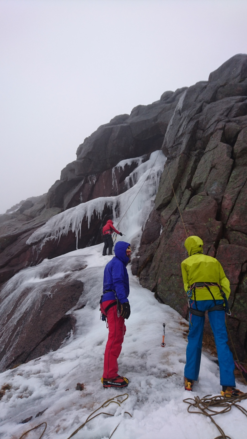 There was some reliable ice around for the guys to climb