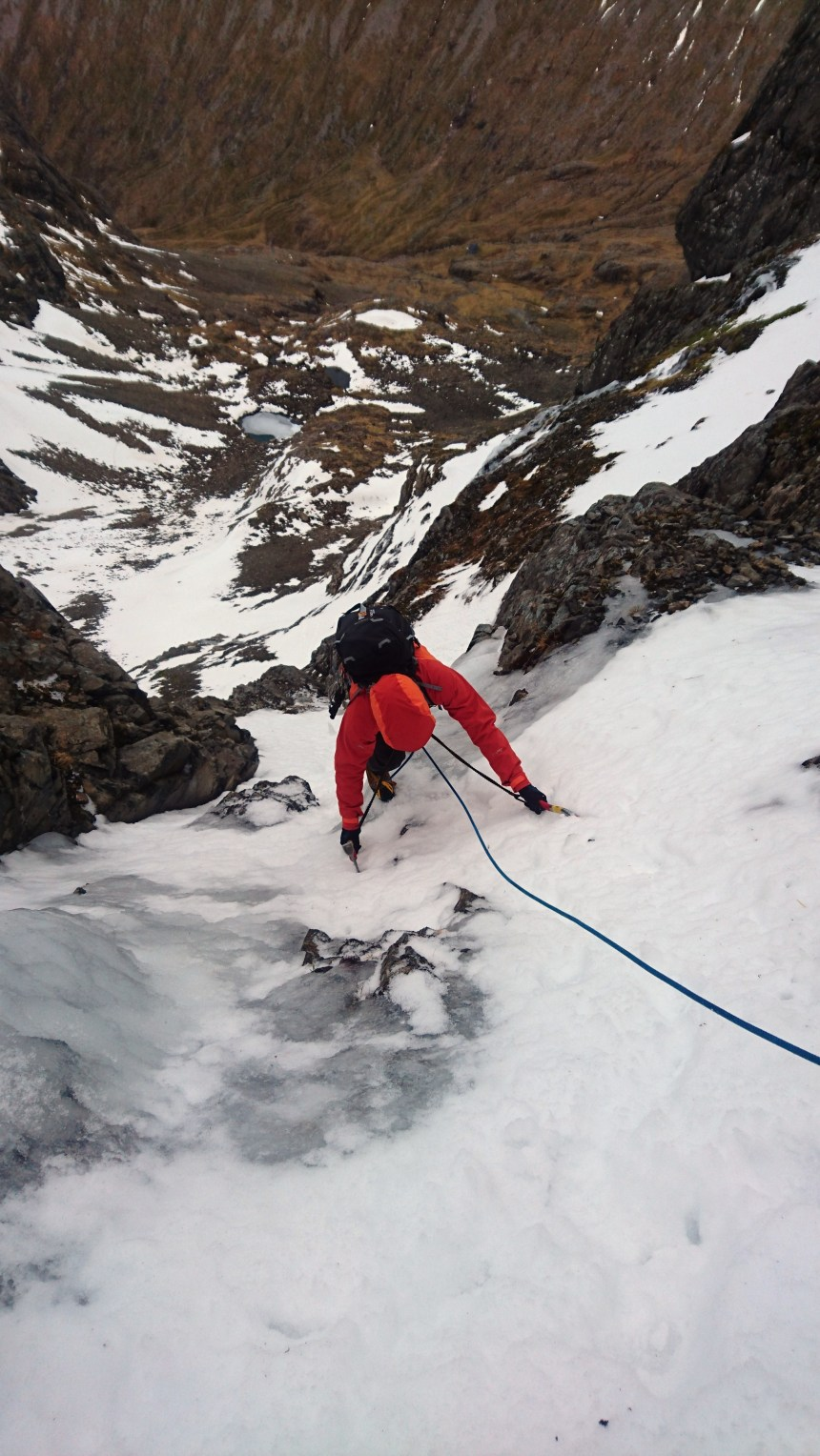 Nice to be climbing ice