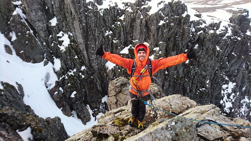 Kevin loving his time on Ben Nevis
